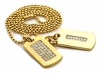 Gold Iced Out 2 Dogtag Set
