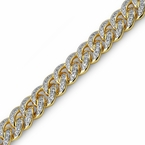 Gold Miami Cuban CZ Bracelet 13MM