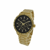 Gold NY London Dress Watch Black Dial