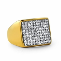 Gold Players Ring Stainless Steel Bling