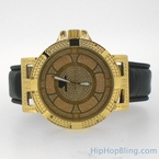 Gold Swag Diamond Watch by Super Techno