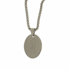 Guadalupe Pendant Stainless Steel Chain Set
