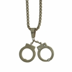 Handcuffs Stainless Steel Pendant Chain Set