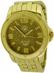 Hip Hop Gold Watch by Techno Pave