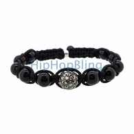 Disco Ball Bracelet Hematite 1 Iced Out Ball
