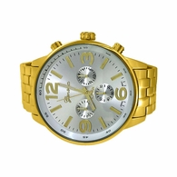 Huge Silver Face Gold Fashion Watch