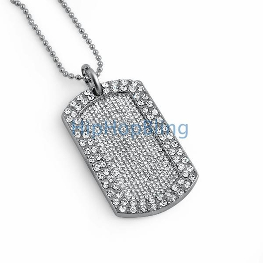 Ice Blizzard Bling Bling Dog Tag & Chain