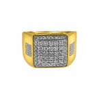 Ice Squares 1.00cttw Diamond Hip Hop 10K Gold Ring
