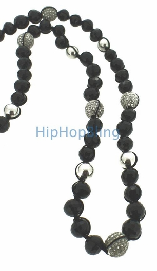 Iced Out 5 Disco Ball Bling Bling Necklace