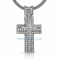 Iced Out Cross & Chain Small