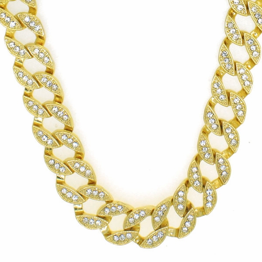 Iced Out Miami Cuban Chain Gold