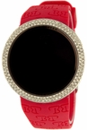 Iced Out Red Digital Touch Screen Watch Techno Pave