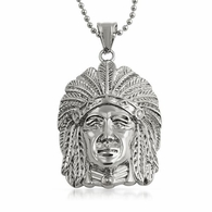 Indian Chief Hip Hop Pendant Stainless Steel