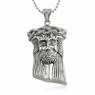 Jesus Detailed Hip Hop Pendant Stainless Steel