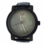Jet Black Techno King Watch .10ct Diamonds