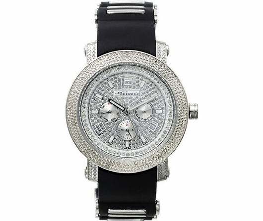 JoJino .25cttw Diamond Watch Black Jelly Band