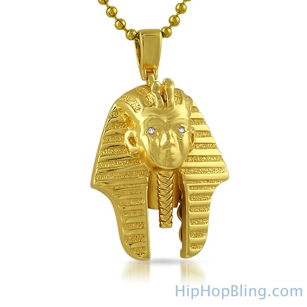 Jewels Obsession King Tut Necklace 14K Yellow Gold-plated 925 Silver King Tut Pendant with 18 Necklace