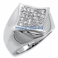 Kite 36 Stones CZ Micro Pave .925 Sterling Silver Mens Ring #37