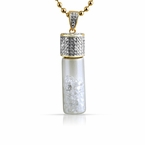 Lab Diamond Bottle of Ice Gold Pendant