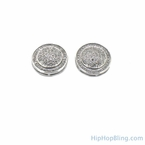 Large Domed .50 carat Diamond Micro Pave Earrings