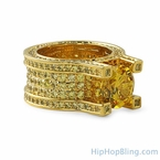 Lemonade Baller Solitaire Eternity Hip Hop Ring
