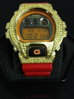 Lemonade Iced Out Red G Shock Watch DW6900