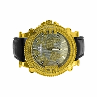 Map Face Gold .10ct Diamond SuperTechno Watch