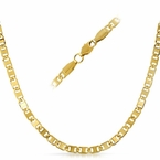 Marine IP Gold Stainless Steel Chain Necklace  4MM