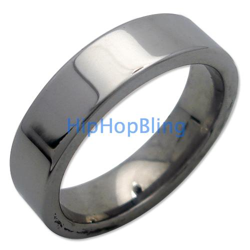 Mens Flat Shiny Wedding Band Tungsten Carbide Ring #5