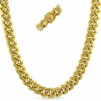 Miami Cuban 3X IP Gold Stainless Steel Chain 10MM
