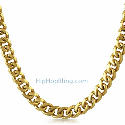 Miami Cuban Chain 9MM 36&quote; Gold Plated