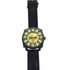Money Sign Gold and Black Hip Hop Watch