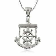 Nautical Anchor Sailor Pendant Stainless Steel
