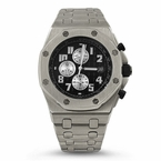 Octagon Brushed Stainless Steel Watch