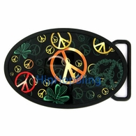 Peace to the World Tattoo Belt Buckle by Fly Fresh TBU36