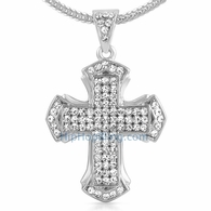 Pointed Cross Bling Bling Chain Small