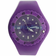 Purple Interchangeable Jelly Band Watch 50mm