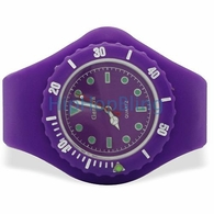 Purple Jelly Watch with Rotating Bezel