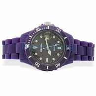 Purple Plastic Submariner Date Fashion Watch