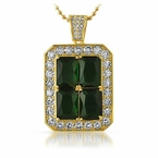 Quad Lab Emerald Green Bling Bling Pendant