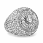 Radiant Halo Iced Out Ring Rhodium