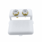 Real Diamond Earrings .925 Cluster Fanook Gold