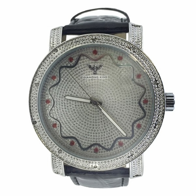 Real Diamond Techno King Watch Pattern Dial