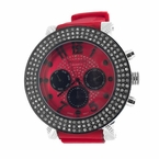 Red Bling Bling Rubber Watch