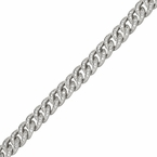 Rhodium Miami Cuban CZ Bracelet 8MM