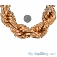 Rose Gold Dookie Rope Chain 30MM WOW