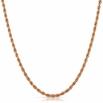 Rose Gold Rope Chain Stainless Steel