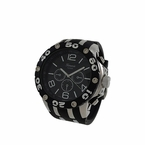 Silver and Black Rubber Sports Fashion Watch