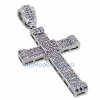 Small CZ Micro Pave Bling Bling Cross