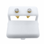 Small Diamond Cluster Earrings .26cttw .925 Gold